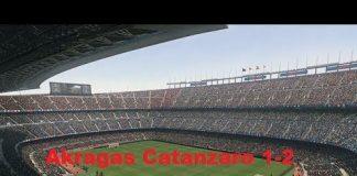 Akragas vs Catanzaro 1-2 Totò Bottone