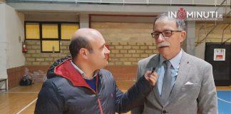 coach Ettore Castorina al microfono di Danilo Verruso