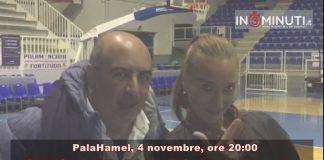 Il presidente Riccobene e la tifosa d'eccezione Sonia Messina vi invitano domenica 4 novembre, ore 20:00, PalaHame