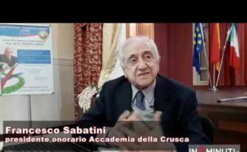 Francesco Sabatini, presidente onorario dell'Accademia della Crusca a Licata