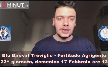Blu Basket Treviglio vs Fortitudo Agrigento, domenica 17 Febbraio, ore 12 in diretta su Sportitalia