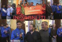 Giovanni Sorce presenta i vincitori del Torneo Gatorade al Sindaco Lillo Firetto