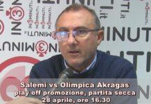 Salemi vs Olimpica Akragas, 28 aprile, ore 16:30,  play off promozione, partita secca