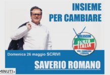 Saverio Romano candidato Elezioni Europee 26 maggio 2019, spot a pagamento