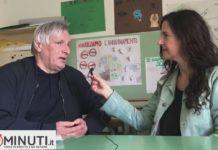 Don Luigi Ciotti, fondatore dell'associaz. Libera a Lampedusa, M Rita Savitteri lo ha intervistato