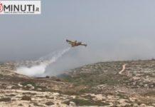 Il centro di raccolta rifiuti di Contrada Imbriacola a Lampedusa in fiamme da questa mattina, VIDEO