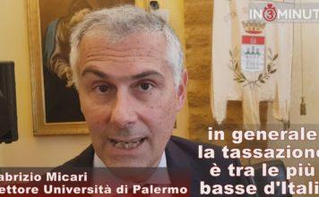 """""""IN GENERALE LA TASSAZIONE è TRA LE PIU' BASSE D'ITALIA"""", Fabrizio Micari Rettore UNIPA, VIDEO"""