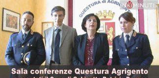 Il Questore di Agrigento Rosa Maria Iraci ha presentato stamani Patrizia Pagano e Sergio Carrubba📽