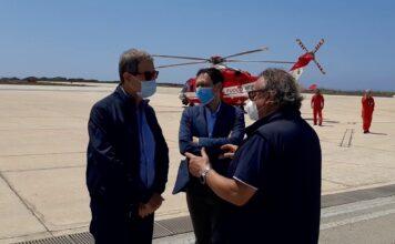 Musumeci e Razza a Lampedusa, incontro operativo con il sindaco Martello, 11 luglio, video